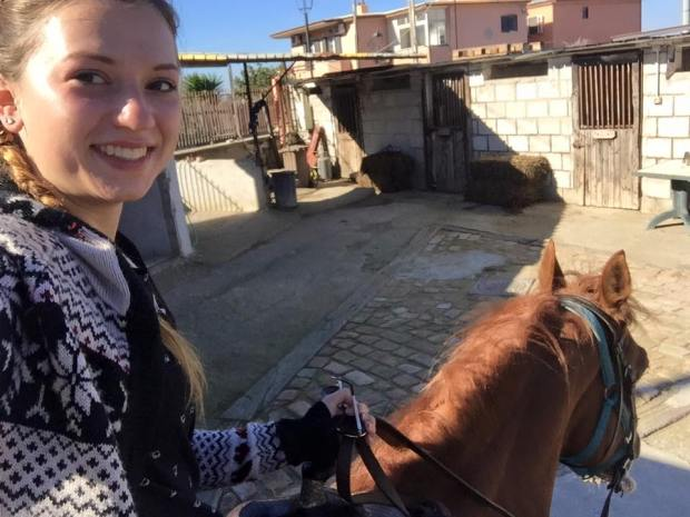 Taking a horse up to Mt. Vesuvius!